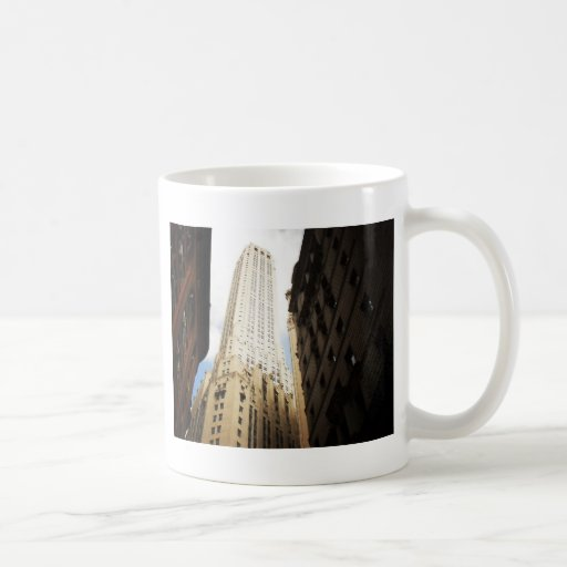 New York City Skyscraper Reaching Towards the Sky Basic White Mug