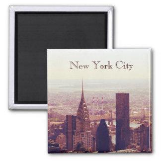 New York City Skyscraper skyline Square Magnet