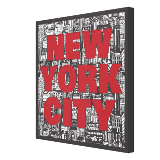 New York City | Skyscraper Typography Canvas Print