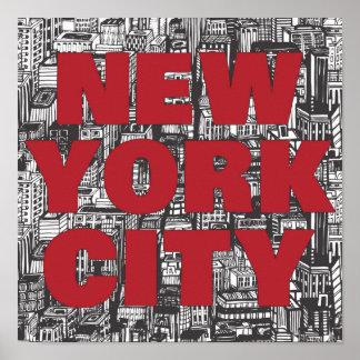 New York City | Skyscraper Typography Poster