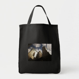 New York City Skyscrapers Against the Clouds Grocery Tote Bag