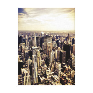 New York City Skyscrapers Skyline Stretched Canvas Print