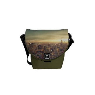New York City Skyscrapers Skyline Cityscape Messenger Bags