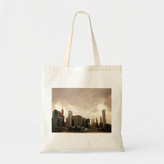 New York City Skyscrapers With Clouds Bag