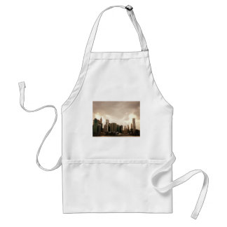 New York City Skyscrapers With Clouds Standard Apron