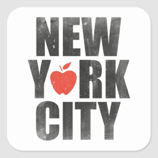 New York City Square Sticker