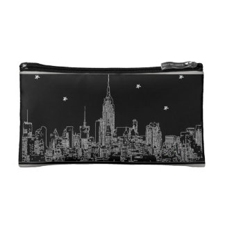 New York City Starry Night Cosmetic Bag