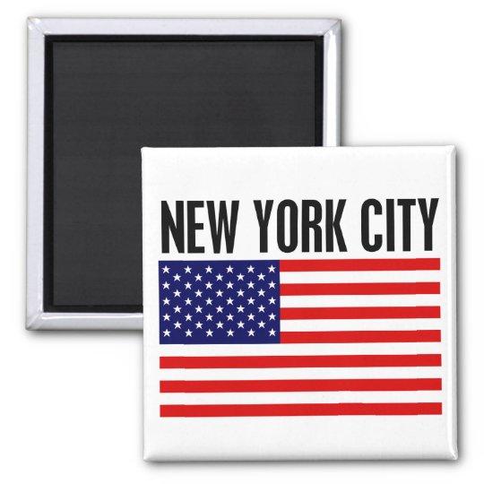 New York City, Stars and Stripes Magnet