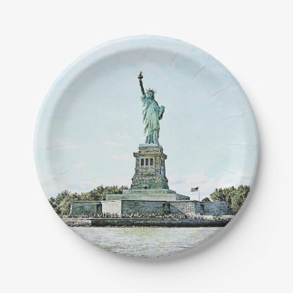 New York City - Statue of Liberty 7 Inch Paper Plate