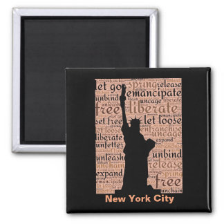 New York City Statue of Liberty Square Magnet