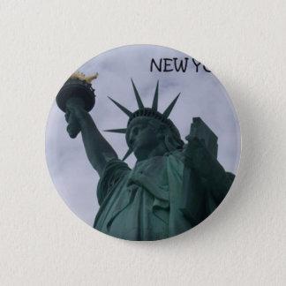 New York City Statue of Liberty (St.K) 6 Cm Round Badge