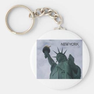 New York City Statue of Liberty (St.K) Basic Round Button Key Ring