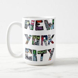 New York City Street Art Basic White Mug