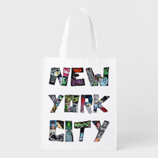 New York City Street Art Reusable Grocery Bag