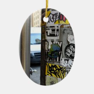 New York City Street Art Urban Photography NYC Christmas Ornament