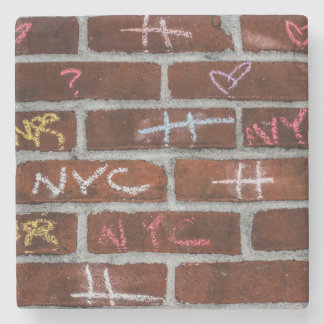 New York City Street Graffiti Photo Stone Coaster
