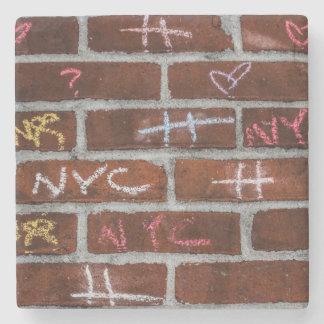 New York City Street Graffiti Photo Stone Coaster