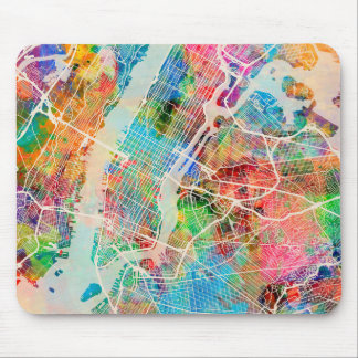New York City Street Map Mouse Mat