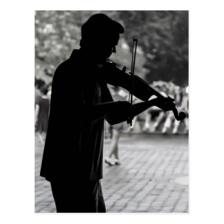 New York City Street Musician Postcard