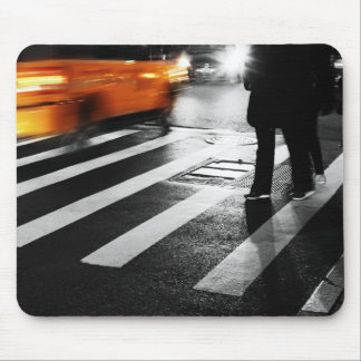 New York City Street Scene Mouse Pads