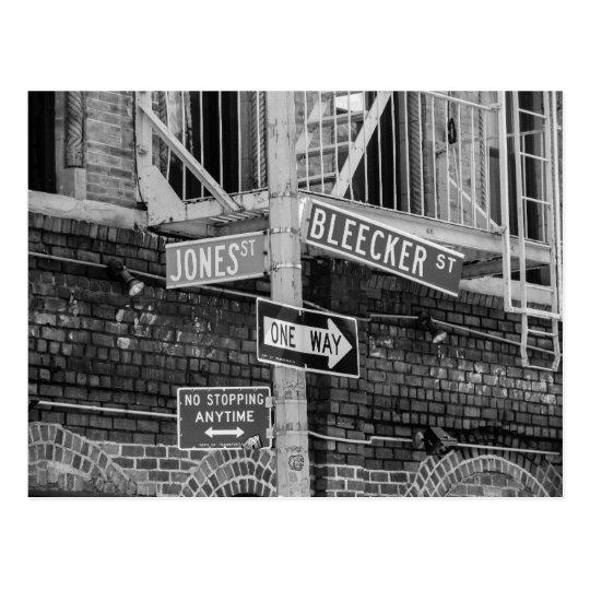 New York City Street Signs Postcard