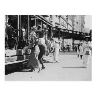 New York City Streetcar, 1913 Postcard