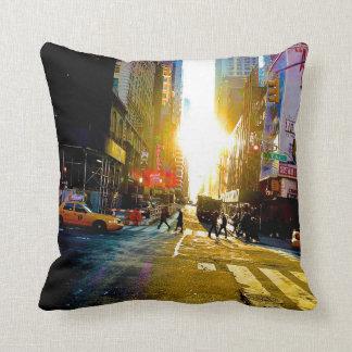 New York City Streets Cushion