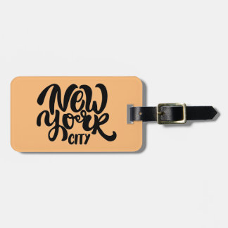 New York City Style Luggage Tag