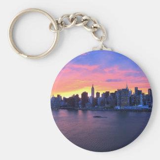 New York City Sunset Key Ring