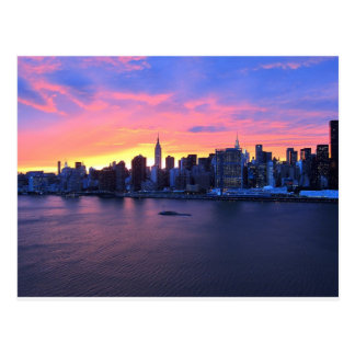 New York City Sunset Postcard