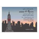 New York City Sunset Skyline Wedding Invitation 13 Cm X 18 Cm Invitation Card