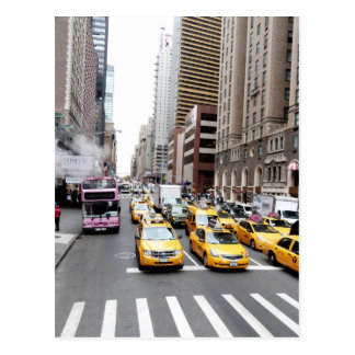 New York City Taxis Postcard