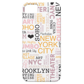 New York City text typography pattern Case For iPhone 5/5S