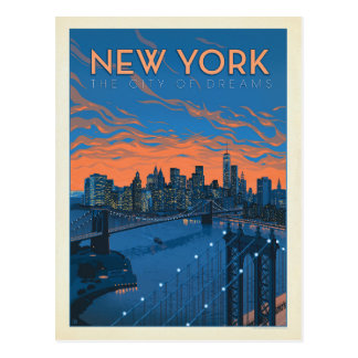 New York City | The City of Dreams Postcard