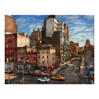 New York - City - The corner of 10th Ave & W 18th 21.5 Cm X 28 Cm Flyer