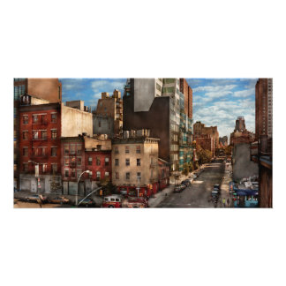 New York - City - The corner of 10th Ave W 18th Photo Greeting Card