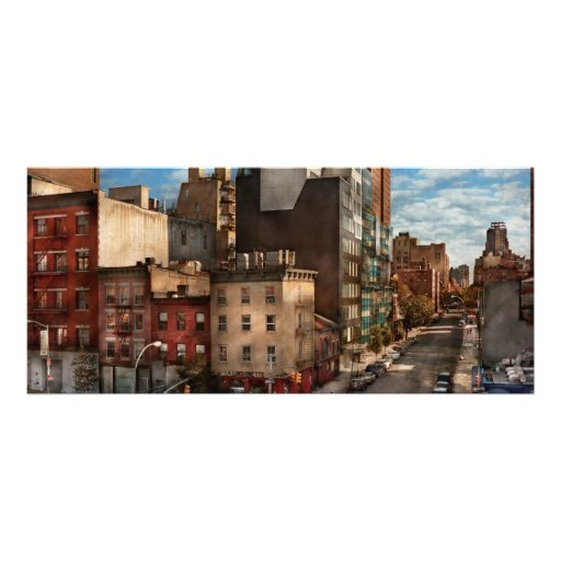 New York - City - The corner of 10th Ave & W 18th Rack Card Template