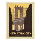 New York City   The Manhattan Bridge Postcard
