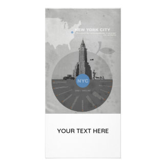 New York City theme Customized Photo Card