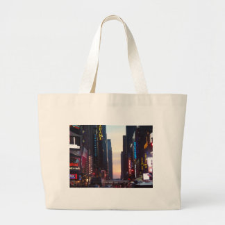 new york city times square large tote bag