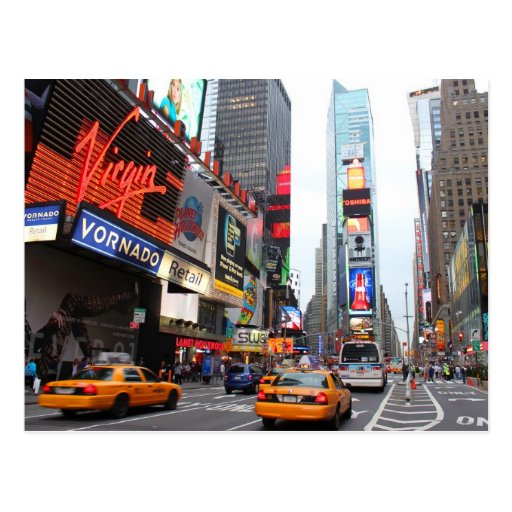 New York City Times Square Post Card