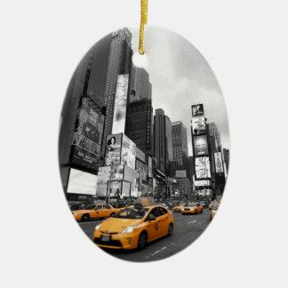 New York City - Times Square - USA Ceramic Oval Decoration