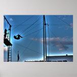 New York City Trapeze Artist @ Seaport Poster