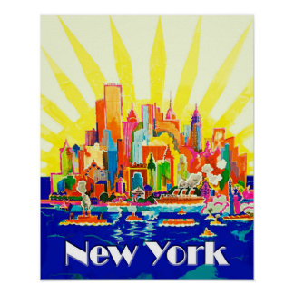 New York City Travel Poster