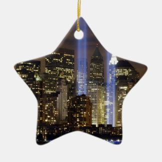New York City Tribute Lights Ceramic Star Decoration