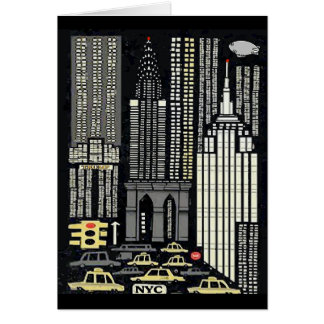 New York City, Trump Tower Abstract Card