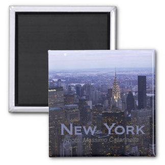 New York City Twilight Travel Fridge Magnet