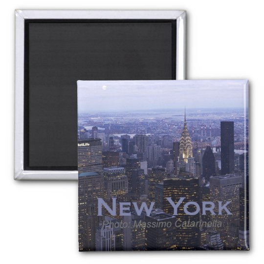 New York City Twilight Travel Fridge Magnet