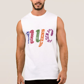 New York City Typographic NYC Initials Sleeveless Shirt