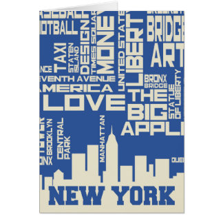 New York City Typography Poster Card